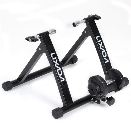 Lixada Magnet Steel Bike Bicycle Indoor Exercise Trainer Stand Solid Frame Magnetic Resistance