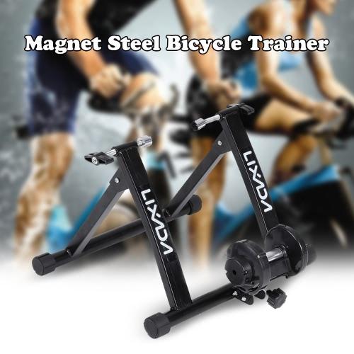 Lixada imán de acero para bicicleta de ejercicios Trainer cubierta del soporte sólido marco Resistencia Magnética