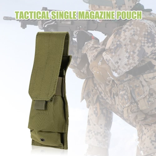 Tactical Pistol Rifle Single Magazine Mag Pouch 600D Oxford Fabric Accessary Pouch Utility Tool