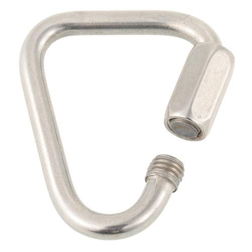 Acciaio inossidabile Triangolo Quick Link di chiusura moschettone Hanging Hook Fibbia per escursione di campeggio esterna