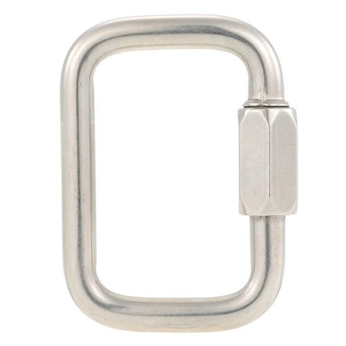 Quadrato dell'acciaio inossidabile Quick Link di chiusura moschettone Hanging fibbia gancio per Parapendio Delta Ala escursione di campeggio esterna