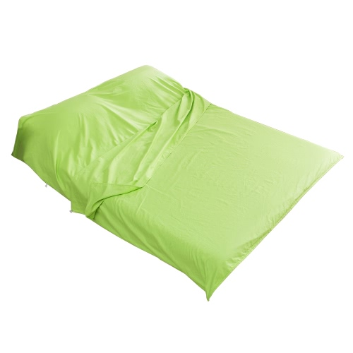 バッグ寝袋ライナー小型軽量コットン生地を眠れる森のアウトドア旅行のバックパッキング