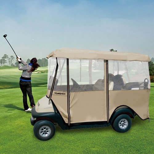 TOMSHOO 4-Sided Golf Cart Cover Enclos pour 4 Personne Fairway Golf Voiture