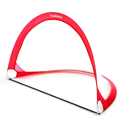 TOMSHOO 2pcs Pop Up Obiettivo di calcio portatili Reti di calcio con Carry Bag Misure 2.3feet / 4feet / 6feet