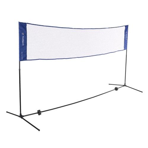 TOMSHOO Tragbare Quickstart Tennis Badminton Net-System Indoor Outdoor Sports Volleyball Trainingsplatz Ineinander greifen-Netz mit Netto-Stand und Carry Bag 3m / 5m