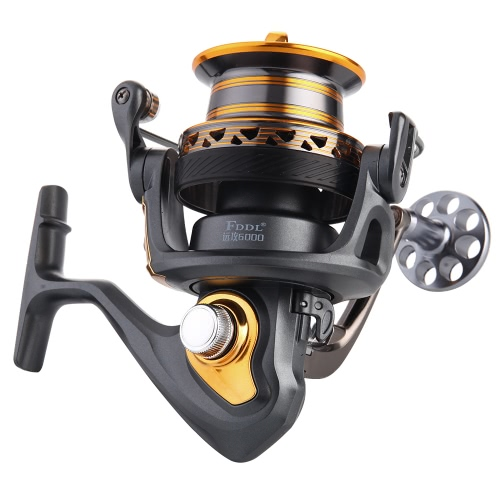 13+1BB Ball Bearings Professional Fishing Reel Long Distance Surfcasting Reel Left/Right Convertible Collapsible Handle Spinning Reel Fishing Tackle