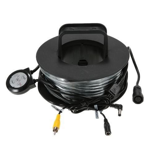 700TVL HD Unterwasserfischen-Kamera wasserdicht Infrarot-IR-LED-Lichter Fisch-Sucher 360 Grad-drehender Fischen-Videokamera mit 20m Kabel