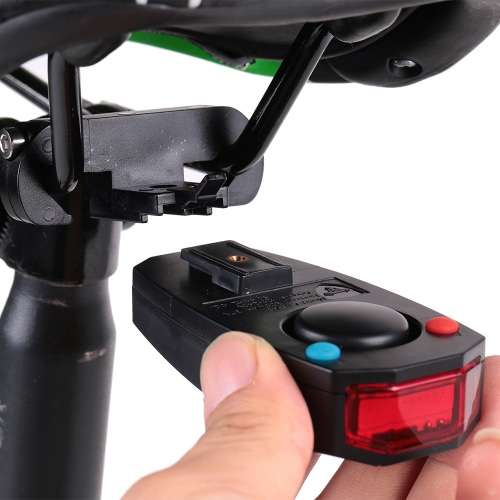Bike Taillights Intelligent Anti-Theft Bicycle Tail Light Alarm LED Cycling Strobe Warning Electric Bell with Wireless Remote USB Cable MTB Accessories Image