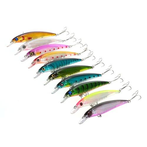 10pcs 11 centimetri / 13.5g ciprinidi Sospendere esche da pesca esche hard Bait Bass artificiale Crankbait Scorfano richiamo Swimbait pesca