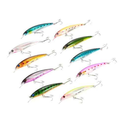 10pcs 11cm/13.5g Minnow Suspending Fishing Baits Lures Hard Bait Bass Artificial Crankbait Redfish Lure Swimbait Fishing thumbnail