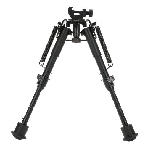 6-9 дюймов Регулируемая телескопическая Тактические сошки Портативный возвратной пружиной Снайпер Охота Инструмент сошки