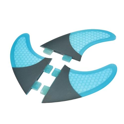 Набор из 3 Surfboard Плавники Соты Половина углеродного волокна Surf совета Fins G3 / G5 / G7 Серфинг Fins