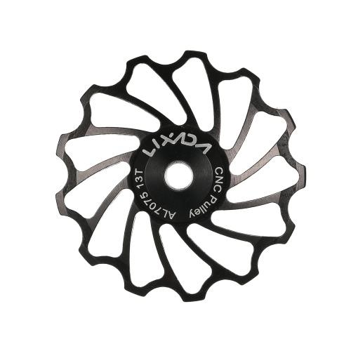 Lixada MTB Road Bike puleggia di ceramica in lega di alluminio 7075 CAMBIO 13T guida ciclistica Ceramica Cuscinetto Jockey Wheel