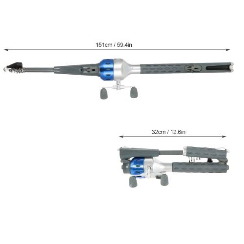 151cm Mini Folding Fishing Rod Foldable Telescopic Fighing Pole Fishing Rod Reel Combo with Fishing Lures Line Carp Fishing Tackle Image