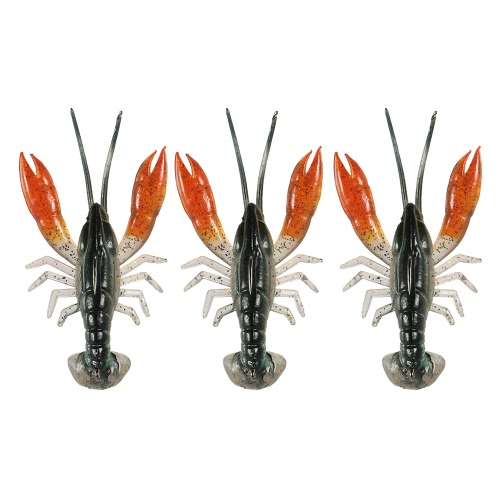 Lixada 8cm / 14g Soft Crawfish Shrimp Lobster Claw Bait Artificial Lure Bait Swimbait Image