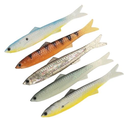 Lixada 5pcs 13cm / 13g Linguetta di pesca molle 3D animale artificiale di simulazione dell'esca Bionic Lure