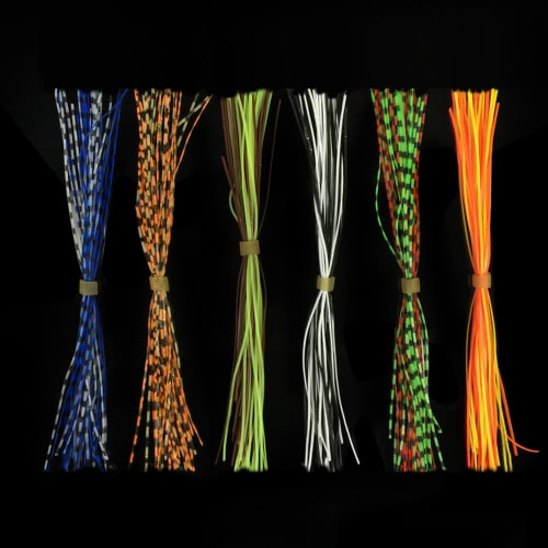 Lixada 10 Bundles/300pcs 13cm Silicone Rubber Skirts Fishing Skirt Baits Rubber Thread Lures Silicone Skirt Baits Fishing Tackle Image