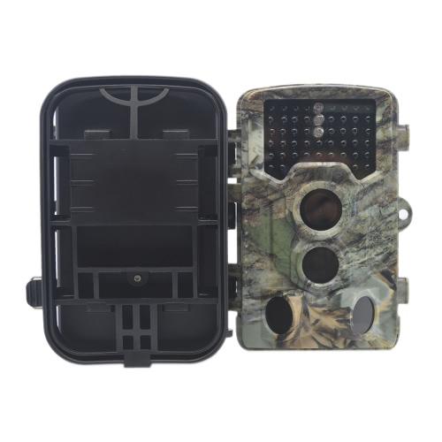 """Digital Hunting Game Trail Cámara 2.31 """"TFT LCD Pantalla 1080P HD Video 8MP CMOS con infrarrojos Invisible Noche IR versión 46pcs 850nm Luces IP56 Resistente al agua TF tarjeta de apoyo para la captura de vida al aire libre Wildlife Yard Imágenes"""