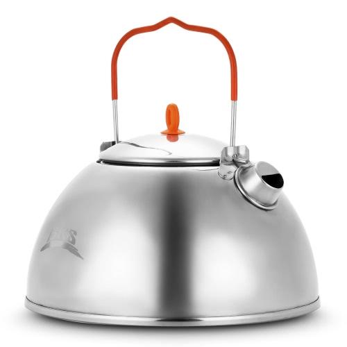 1.1L al aire libre acampar senderismo agua tetera tetera cafetera pote compacto portátil ultraligero tetera con filtro de té