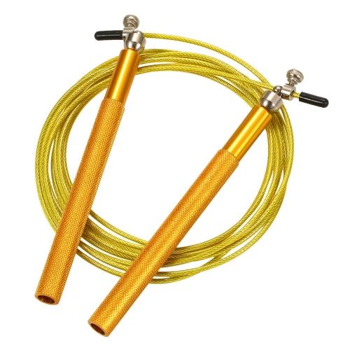 Einstellbare Geschwindigkeit Springseil Leichtes Skipping Springseil Kabel Draht Home Gym Fitness Boxen Training Workout Übung