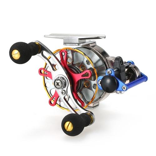 Mini Ultralight Fliegenrolle Rechtshänder Fliegen Angelrolle CNC maschinell bearbeitet Aluminium Metall Reel Ratio Angeln Rad Reel Spool Tackle Tool