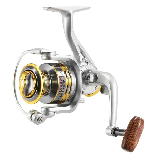 12 Bobina da pesca BB Spinning 5.1: 1 Bobina da pesca con rapporto di trasmissione per la pesca in riva al fiume