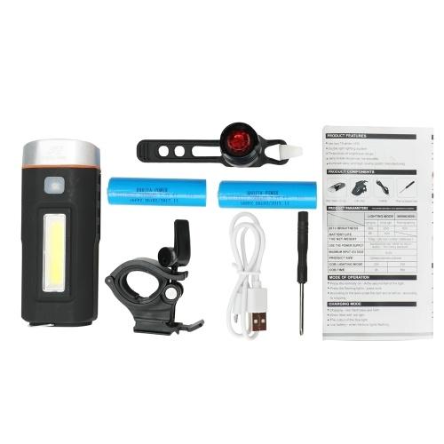 Magnete Doppia Luce Super Bright Faro e Rubino Batteria fanale posteriore della luce della bici Set luci di avvertimento impermeabili per ciclismo all'aperto