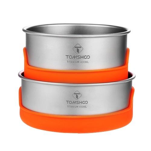 Taças de campismo de titânio TOMSHOO