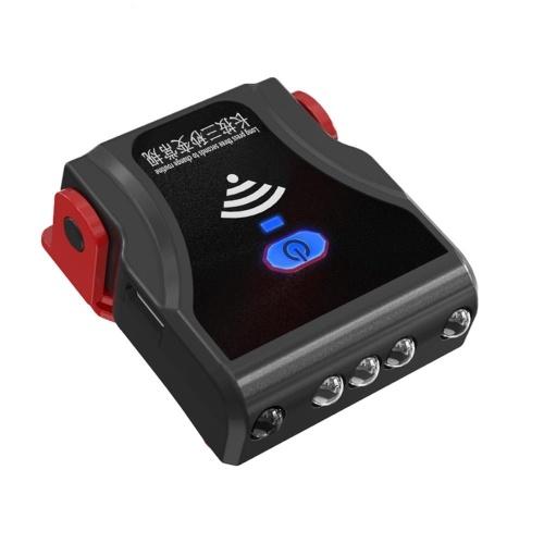 Lanterna multifuncional USB recarregável para chapéu à prova d'água Farol LED com tampa de bola giratória Luz de viseira de chapéu com clipe para caça, acampamento e pesca