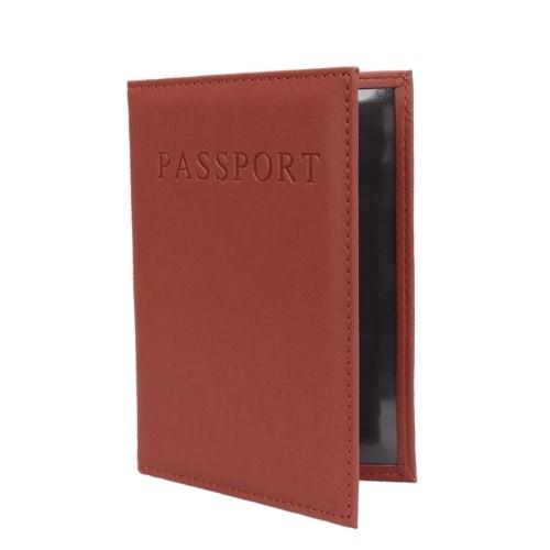 Étui en cuir pour passeport de voyage