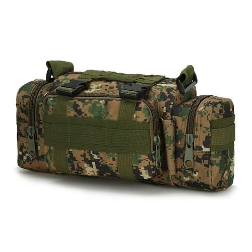 Multifunktionale Camouflage Tactic Gürteltasche Crossbody Pack Beutel Schultergurt Range Bag Outdoor Sports Wandern Radfahren