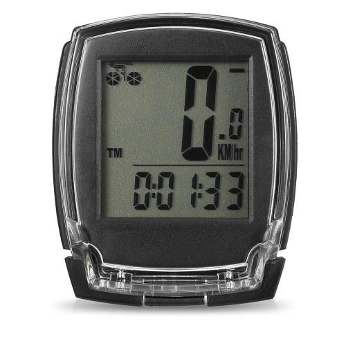 Bicicleta sem fio do computador velocímetro bicicleta digital odômetro cronômetro termômetro backlight EL