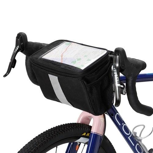 Guidão de bicicleta isolado saco térmico