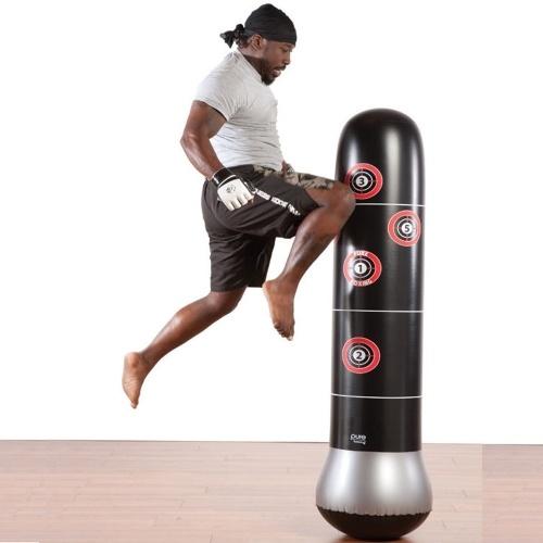 1.6m Boxeo Saco de boxeo Inflable Free-Stand Tumbler Muay Thai Entrenamiento Alivio de la presión Rebote Bolsa de arena