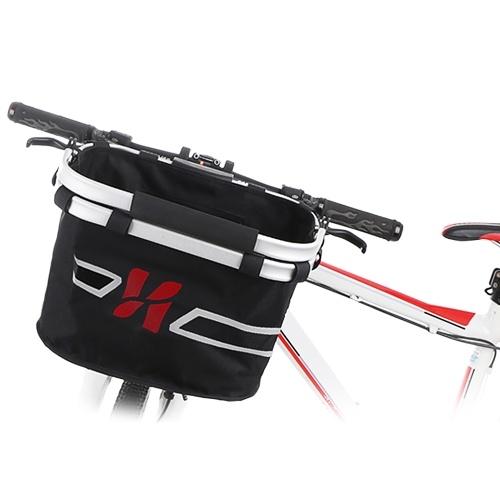 Bicycle Front Basket Collapsible Bike Handlebar Basket Pet Cat Dog Carrier Bag Shopping Commuting Image