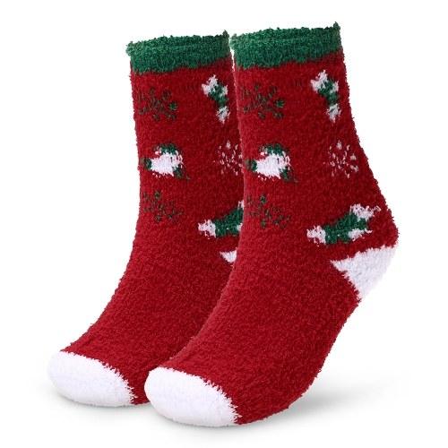 Warm Adults Socks Patterned Christmas Holiday Socks