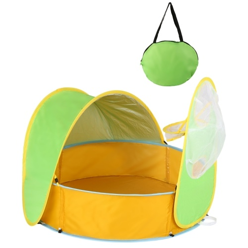 Baby Beach Tent Pool Portable Popup Shade Pool Play Tent UV Protection Sun Shelter