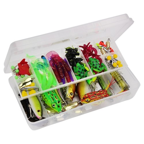 141pcs Fishing Accessories Kit Fishing Lures Baits