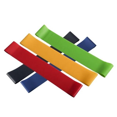 5PCS tragbares Latex-Spannband Fitness Sport Yoga Hochelastizität Deep Squat Spannungsband mit glatter Oberfläche