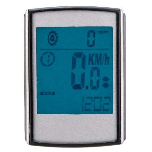 Multifunctional Wireless LCD Cadence Bicycle Computer Odometer Speedometer