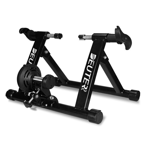 Foldable Bike Trainer Stand Magnetic Bicycle Stationary Training Stand Rack for Indoor Exercise Riding Image