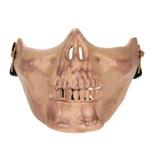 All'aperto Wargame tattico Mask inferiore del fronte mezzo della mascherina protettiva Guardia Airsoft Paintball CS Esercito Maschera Halloween Party Cosplay Mask