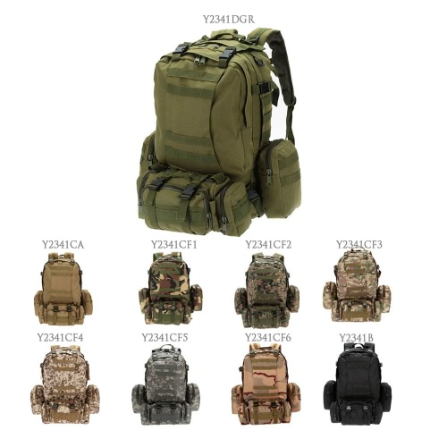 Lixada открытый многофункциональный военной тактический рюкзак с MOLLE лямки рюкзака спорта кемпинг поездки туризм мешок