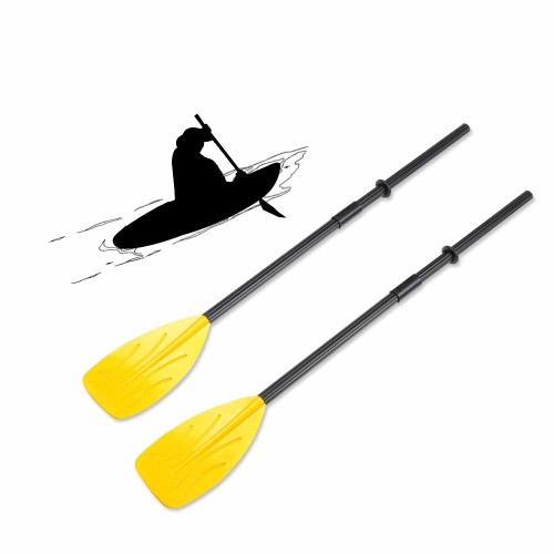 Una coppia di pagaie con Split 4 pezzi albero 2 connettori 2 anelli di gomma per il vostro pagaie per Kayak mare barca a remi