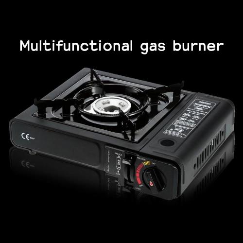 2.3 kW portatile a Gas con trasporto casella Piezo accensione bruciatore a Gas per barbecue sfregamenti piatto Stir-Fry stufatura