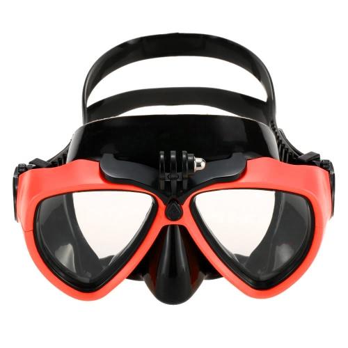 Lixada adulto immersioni Snorkeling nuoto temperato vetro immersioni maschere occhiali con fotocamera montare