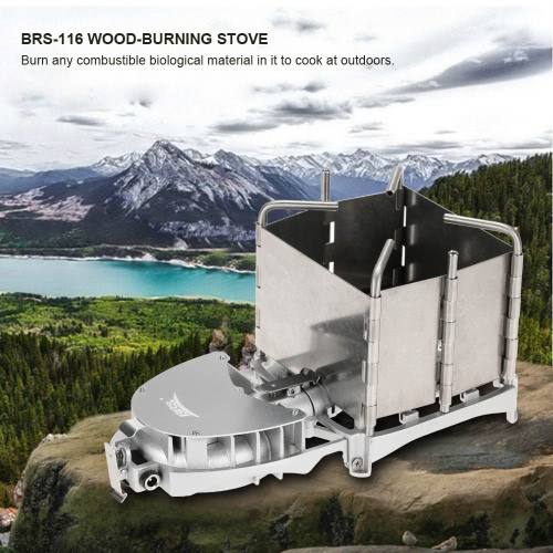 BRS Portable Palm-sized Camping Outdoor Wood-burning Stove Charcoal Burner BBQ Furnace Electronic Blower Stove
