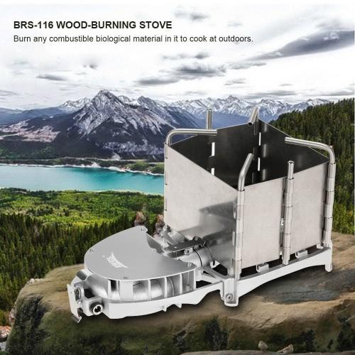 BRS Bewegliche Palm-sized Camping Outdoor-Holzofen Köhlerei Grillofen Elektronische Gebläse Herd