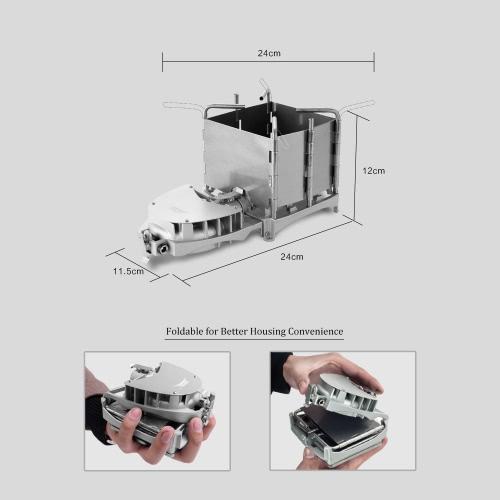 BRS portátil estufa de camping al aire libre de leña tamaño de la palma de carbón de barbacoa quemador del horno Estufa electrónica soplador