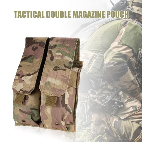 Tactical Rifle Double Magazine Pouch Pistol Mag Pouch 600D Oxford Fabric Accessary Pouch Utility Tool